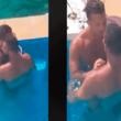 Filtran video de dos futbolistas en íntimo coqueteo dentro de una piscina [VIDEO]